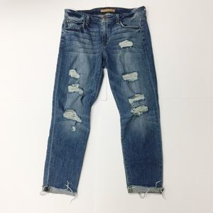 Joe's Jeans The Boyfriend Slim Crop Distressed 27